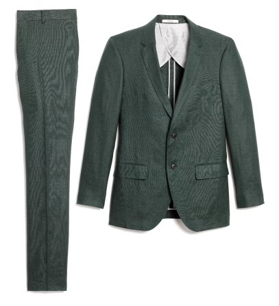 April - Grant Linen Suit in Eucalyptus