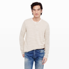 Cotton Linen Henley