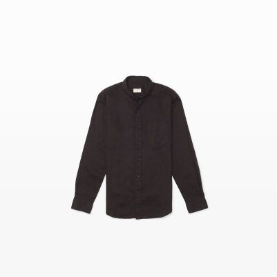 Linen Shirt in Black