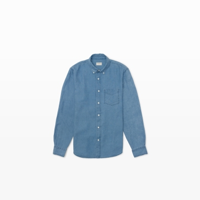 Linen Shirt in Light Indigo