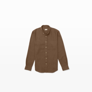 Linen Shirt in Taupe